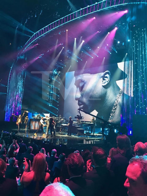 Snoop Dogg, T.I., and YG perform at the 32nd Annual Rock & Roll Hall Of Fame Induction Ceremony at Barclays Center.