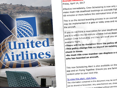 United Changes Policy for Overbooking and Removing Passengers (DOCUMENT)