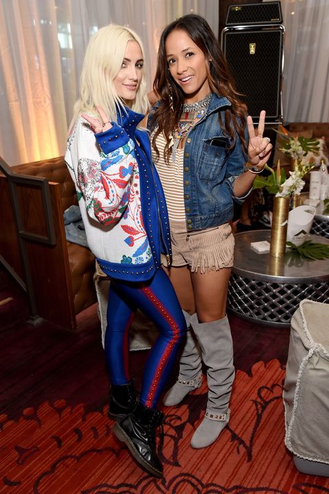 Singer Ashlee Simpson (L) and actor Dania Ramirez celebrate a Toast to Summer with the NEW Limited Edition CIROC Summer Colada at the Hard Rock Hotel Palm Springs on April 14, 2017 in Palm Springs, California.