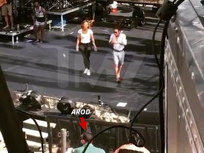 Jennifer Lopez Rehearses with Ex-Husband Marc Anthony As A-Rod Watches (VIDEO)
