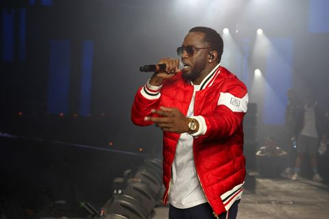 Diddy performing