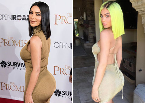 Kim (36) vs. Kylie (19) -- Bootyful Babes edition!
