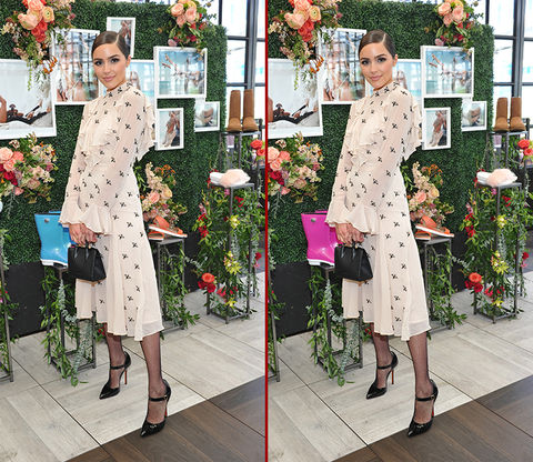 Can you spot the THREE differences in the Olivia Culpo photos?