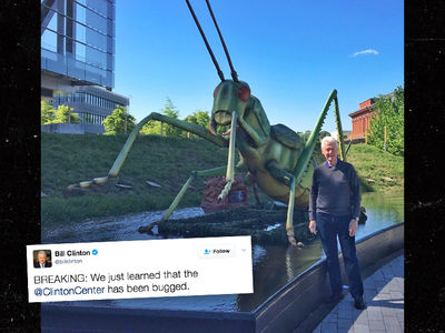 Bill Clinton Trolls Donald Trump By Saying Clinton Center is Bugged (PHOTO)