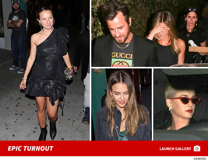 57e51efa75b7 Jennifer Aniston, Courteney Cox, Katy Perry Celebrate Jennifer Meyer's 40th  Birthday