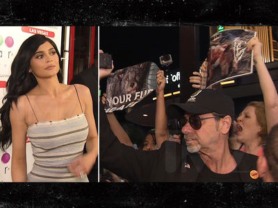 Kylie Jenner Ditches Photo Op Under Pressure from Animal Rights Protest (VIDEO + PHOTO)