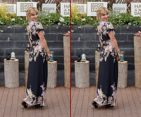 Can you spot the THREE differences in the Elsa Pataky photos?