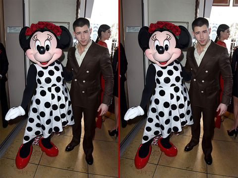Can you spot the THREE differences in the Nick Jonas photos?