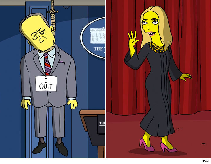 the simpsons spoof trumps first 100 days tmzcom