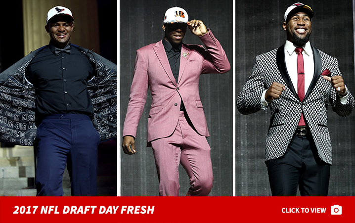 c23ee565d3e NFL Draft Prospects Show Crazy Fashion Swag Before Big Night
