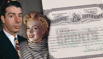 Joe DiMaggio and Marilyn Monroe's Marriage Certificate Hits Auction Block (Document)