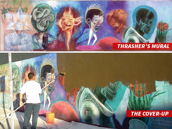 Street Artist Thrasher Sues Over Classic L.A. Mural You Trashed My Art for a Drunk!