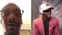 John Ross Gets Emotional NFL Draft Shout-Out from Snoop (VIDEOS)
