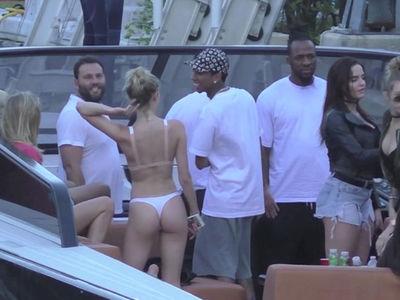 Tyga Parties with Bikini-Clad Blonde in Miami (VIDEO)