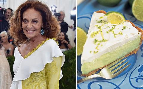 Diane Von Furstenberg and a slice of key lime pie
