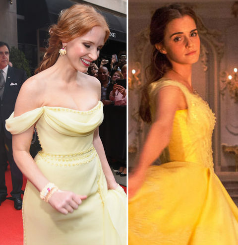 Jessica Chastain and Enna Watson in 'Beauty and the Beast'