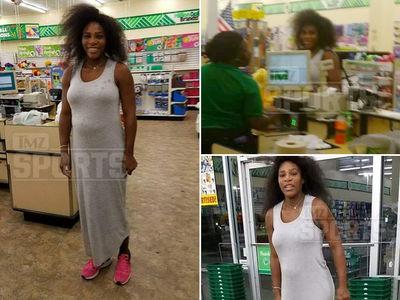 Serena Williams Flaunts Million Dollar Bump at Dollar Tree Store (PHOTO GALLERY)