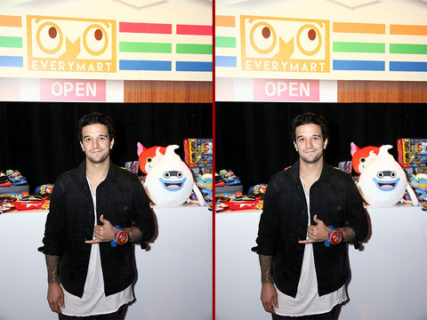 Can you spot the THREE differences in the Mark Ballas photos?