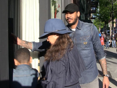 Carmelo and La La Anthony's Mother's Day Dinner Together (VIDEO)