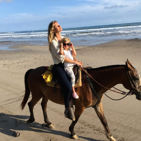 Tom Brady posted this pic of Gisele on Mother's Day.