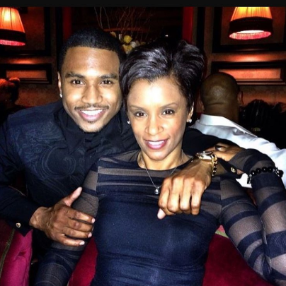 Trey Songz spent some time with his momma.