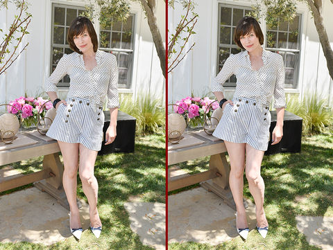 Can you spot the THREE differences in the Milla Jovovich photos?
