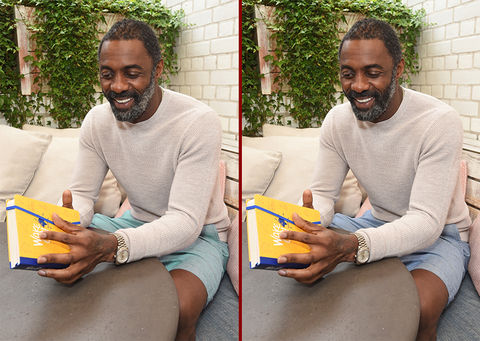 Can you spot the THREE differences in the Idris Elba photos?