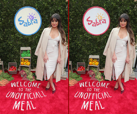 Can you spot the THREE differences in the Lea Michele photos?