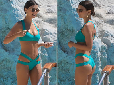 Emily Ratajkowski Cannes Do No Wrong Wrapped Up In Her Bikini (PHOTO GALLERY)