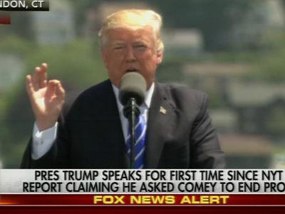 Donald Trump Tells U.S. Coast Guard Grads to Draw Inspiration from His War with Media (VIDEO)