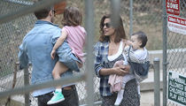 Ryan Gosling & Eva Mendes Park It With Daughters (PHOTO)