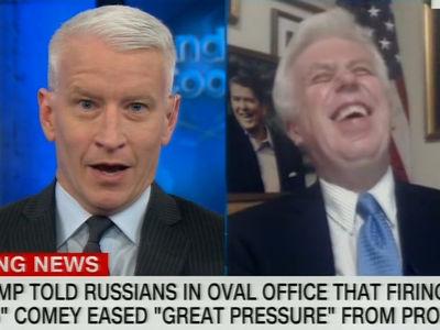 Anderson Cooper Tells Trump Supporter He'd Even Support Prez Taking Dump on Desk (VIDEO)