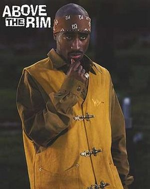 Tupac wearing the original yellow vest in Above The Rim
