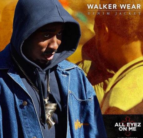 Tupac's Walker Wear denim jacket is worn by Demetrius, no alterations needed.