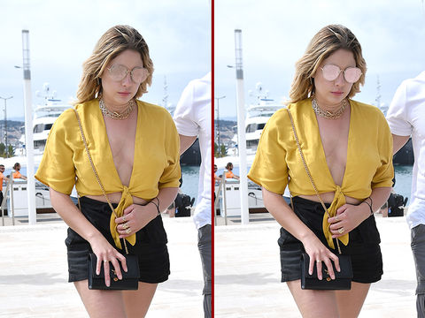 Can you spot the THREE differences in the Ashley Benson photos?