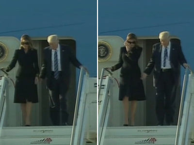 Donald and Melania Trump Arrive in Rome, Still No Hand-Holding (VIDEO)