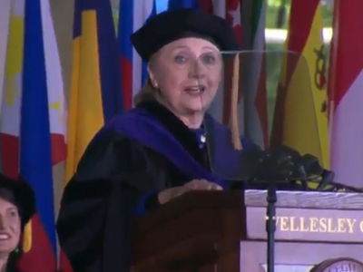 Hillary Clinton Says Chardonnay Eased Her Pain, Coughs Up a Storm at Alma Mater (VIDEO)