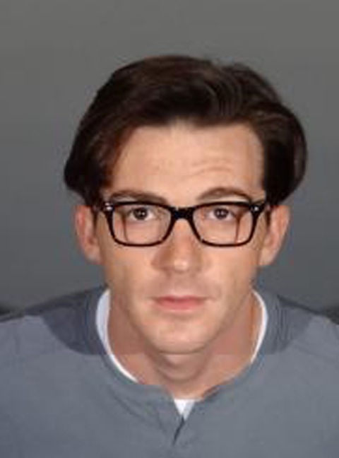 Drake Bell's mug taken when he checked into L.A. County lockup as part of his DUI plea deal. His clean cut look screams life behind bars just ain't his thing.