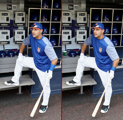 Can you spot the THREE differences in the Michael Conforto photos?