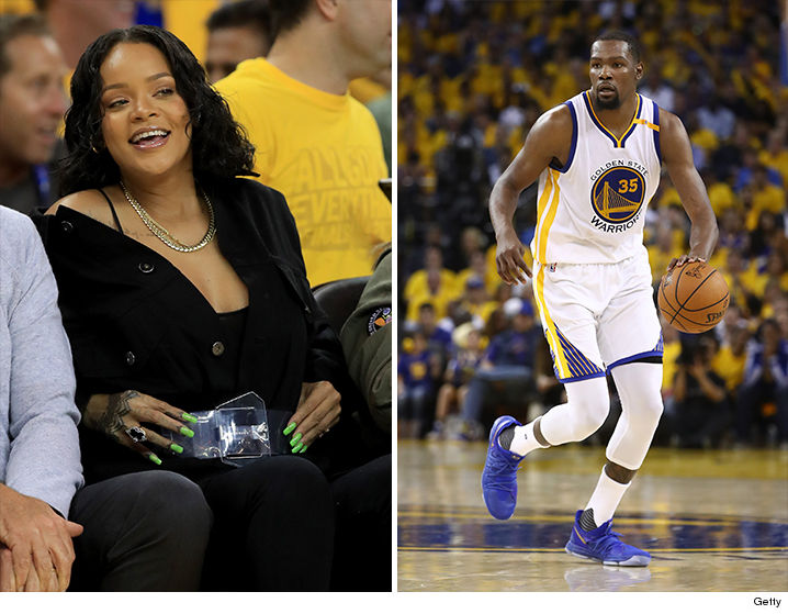 c5006e9d0830 Rihanna was ON FIRE during Game 1 of the NBA Finals -- allegedly heckling  Kevin Durant