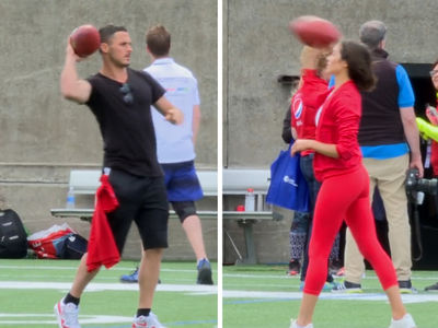 Danny Amendola's GF Throws Spiral Tighter Than Her Pants