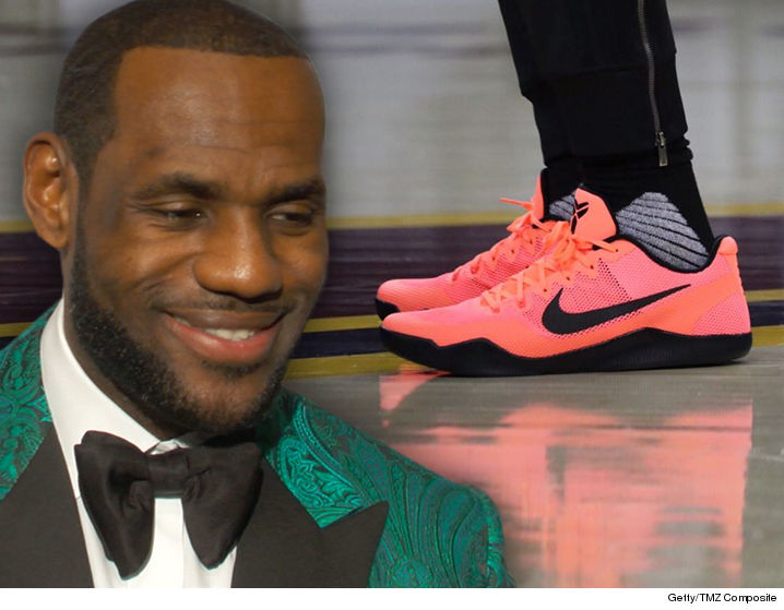 4b0c98fe85a2 LeBron James is turning to Kobe Bryant for a little help in the NBA Finals  -- rockin  the Mamba s signature Nike shoes in preparation for Game 3.