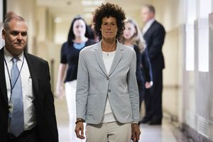 Bill Cosby On Trial - Cosby's Accuser Marches In