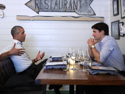 Barack Obama and Justin Trudeau Do Dinner in Montreal (PHOTO + VIDEO)
