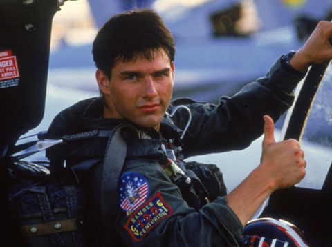 "Tom Cruise as ""Maverick."""