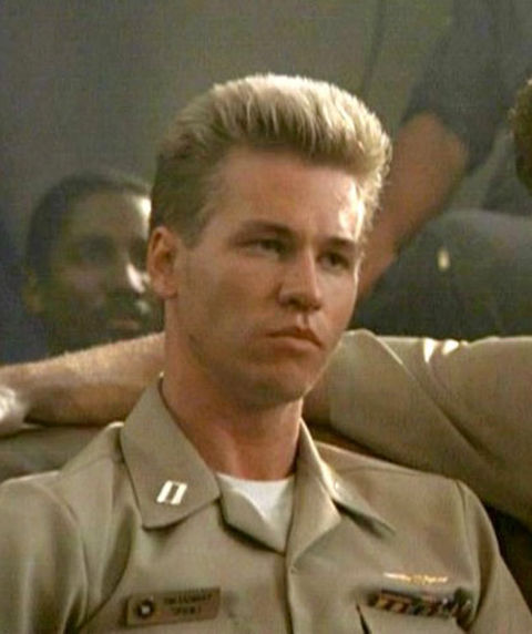 "Val Kilmer as ""Iceman."""