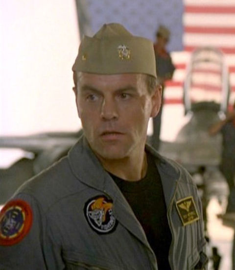 "Michael Ironside as ""Jester."""
