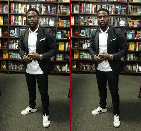 Can you spot the THREE differences in the Kevin Hart photos?