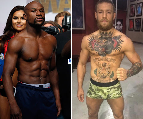 Floyd Mayweather (40) vs. Conor McGregor (28)  -- Bigger Knockout?