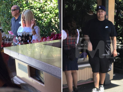 Rob Kardashian and Blac Chyna Celebrate Father's Day with Dream at Disneyland